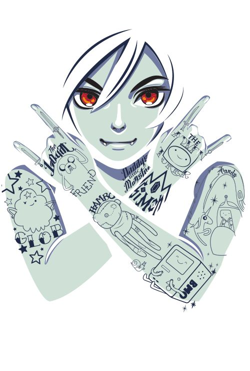 Marceline with tats.
