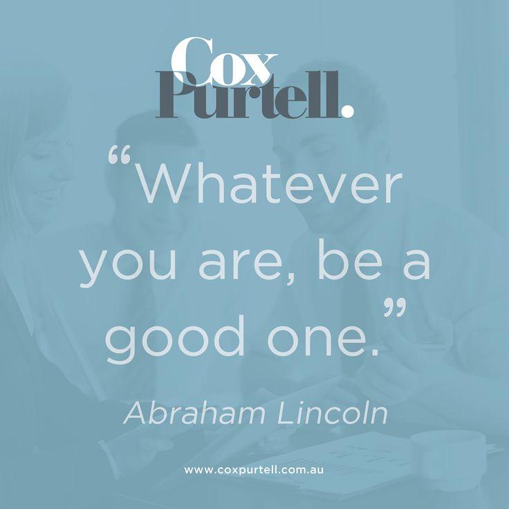 Abraham Lincoln Quote - Cox Purtell Recruitment
