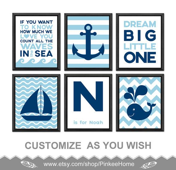 Nautical Nursery Wall Decor 161 best nautical nursery - nautical kids art images on pinterest