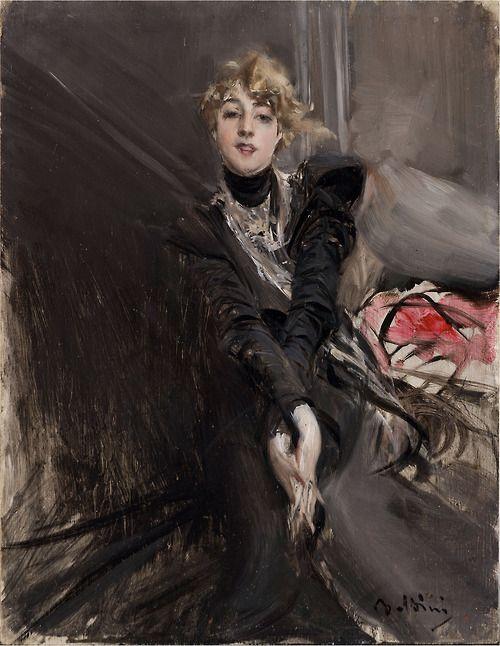 Portrait of the actress Jeanne Renouardt by Giovanni Boldini, c. 1910   Madame de Pompadour