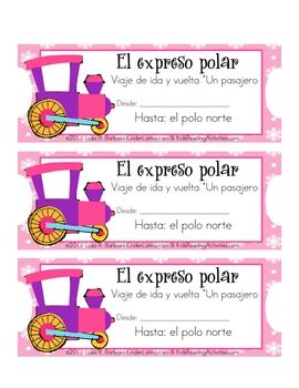 SPANISH Tickets to use with your Polar Express book.