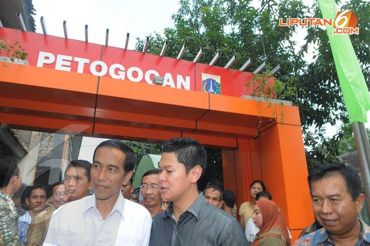 Jokowi Resmikan Ratusan Rumah di Kampung Deret Petogogan