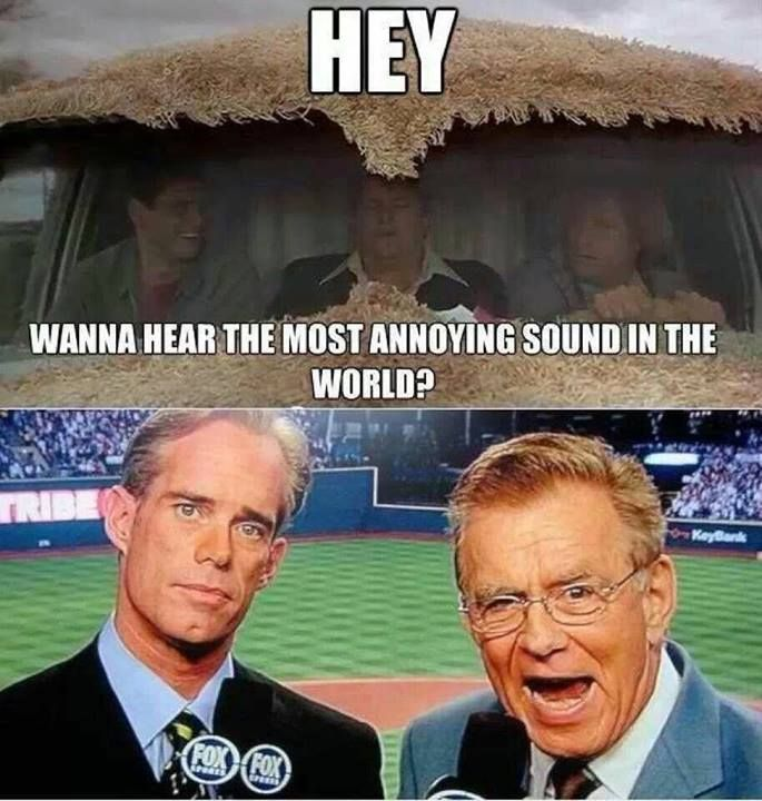 However why is Joe Buck's mouth not open.  I think I would rather hear one of McCarver's stories than Joe sucking up to the other team