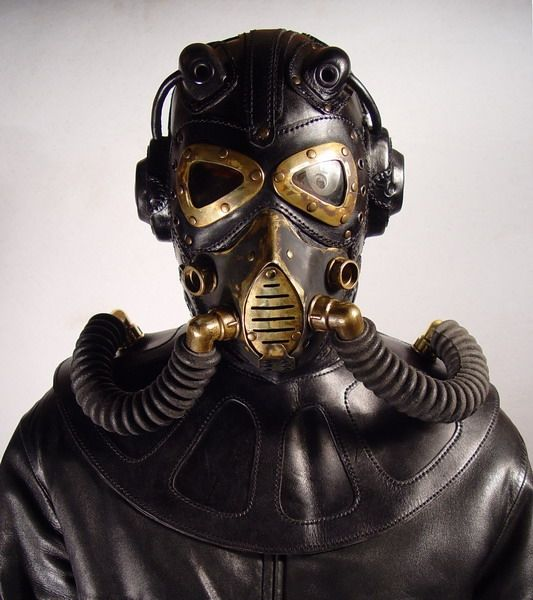 Steampunk gas mask. I love this shape!                                                                                                                                                                                 More