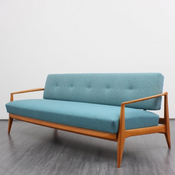 50er Daybed T Rkis Neu Bezogen Sofa Blue Mobilier Pinterest Sofas Daybeds And Blue