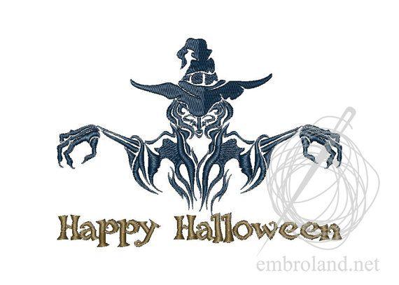 Witch Warlock Machine Embroidery Design Instant Download