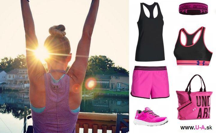 Dámský sportovní outfit Under Armour, skvělý na běh i fitness