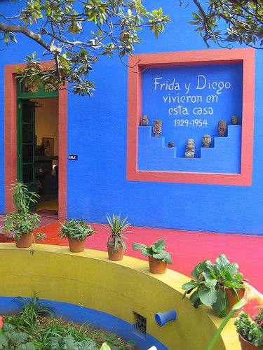 La Casa Azul, Mexico City amazingly artistic home of Frida Kahlo and Diego Rivera. 5 minutes away from my house :)
