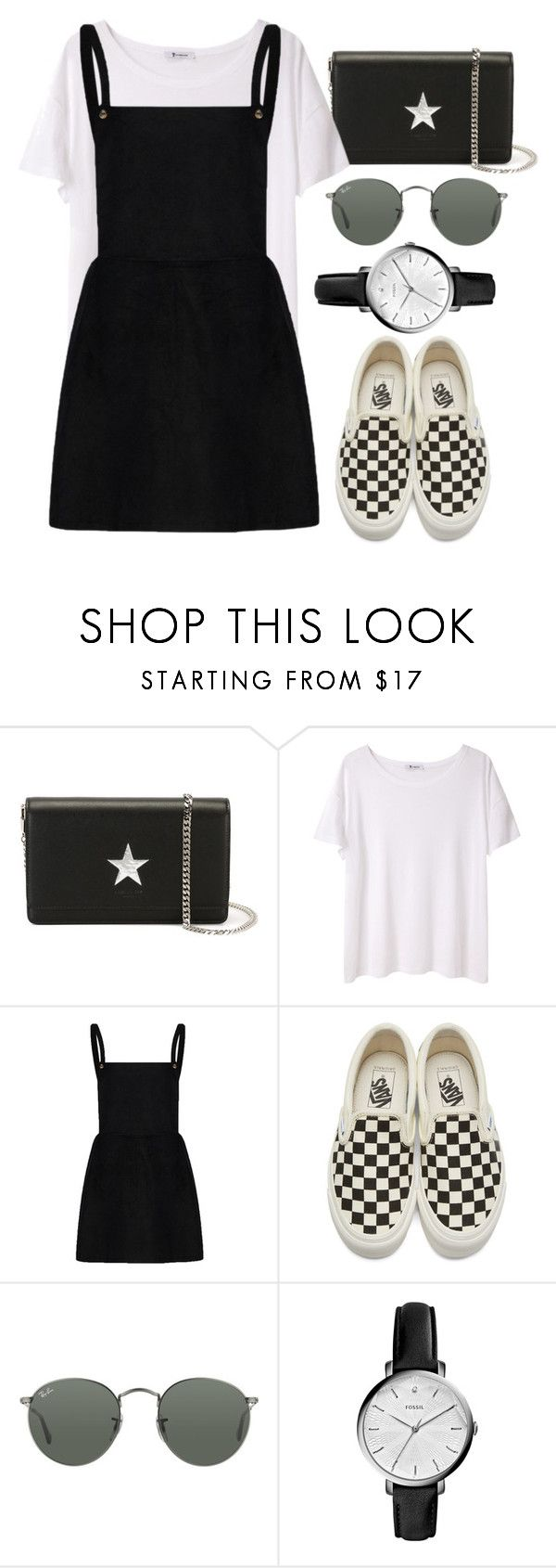 """Sin título #2278"" by alx97 ❤ liked on Polyvore featuring Givenchy, T By Alexander Wang, Vans, Ray-Ban and FOSSIL"