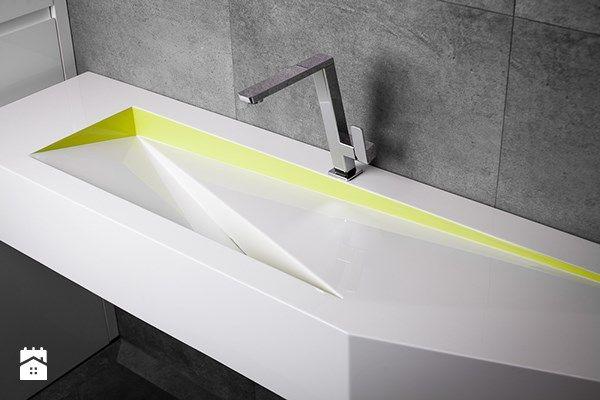 Nowoczesna łazienka - umywalka z blatem i odpływem szczelinowym Luxum - zdjęcie od Luxum - Łazienka - Styl Nowoczesny - Luxum