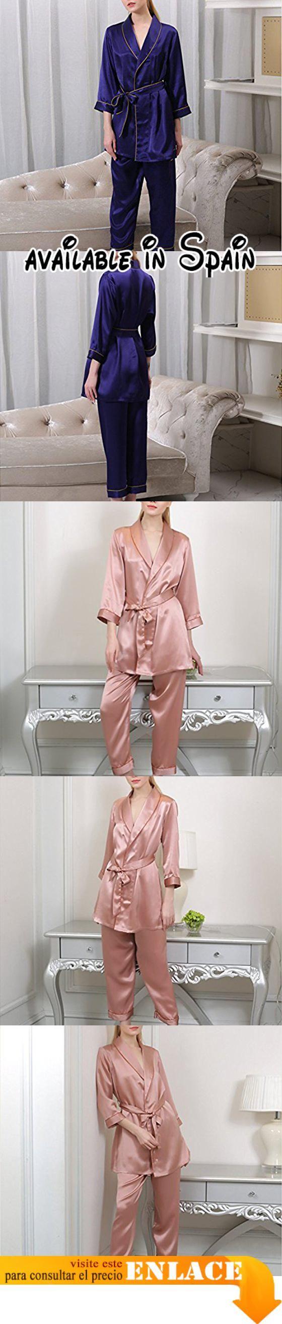 B074V7667Z : OGTOP La Primavera Y El Otoño De Verano Y De Invierno Las Mujeres De Seda Cómoda De Ocio Pijamas Transpirable Servicio A Domicilio2-L. Pijamas 100% de poliéster para el diseño de las mujeres. Sedosos pijamas mujeres sienten placer diseño para el hogar perfecto. Shallow satén de poliéster suave sensación suave del sueño. Este elegante pijama se puede decir que sea una combinación perfecta de la magnífica y elegante.. Poliéster textura de seda tejido
