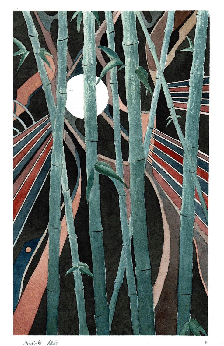 """Moonlight"" by Lukas Bolz #circle #abstract #abstractart #art #watercolour #bamboo #moon"