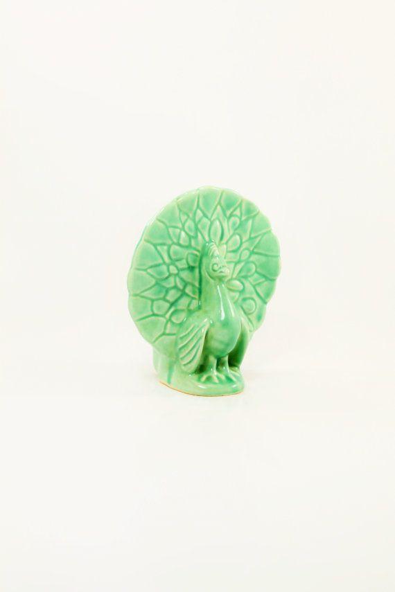 Chicken Planter Turkey Planter Green Vase by ClockworkRummage