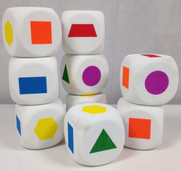 Dobbelsteen vormen - http://credu.nl/product/dobbelsteen-vormen/