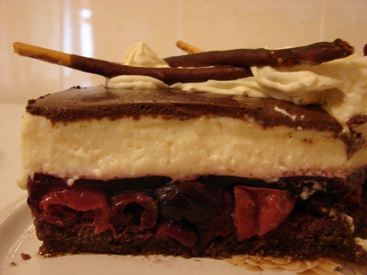 TORT MIKADO BLAT CACAO,FRUCTE IN JELEU,PANNA COTTA,CIOCOLATA