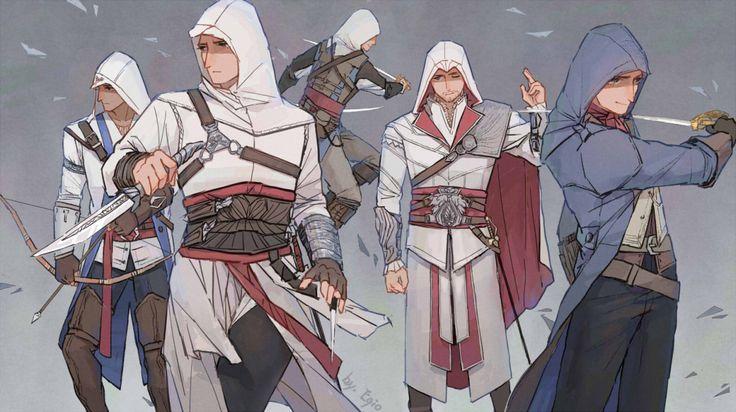 Altaïr, Ezio, Connor, Edward and Arno
