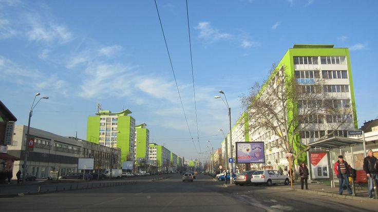 An attractive green living quarter in Bucharest, Romania