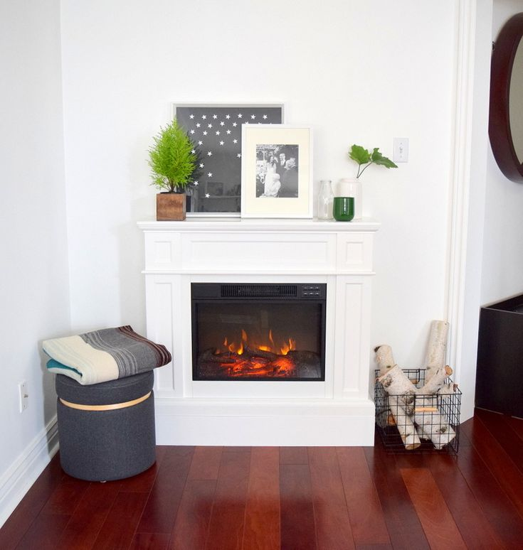 Flamelux Electric Fireplace - White Mantel - Home Depot - northstory