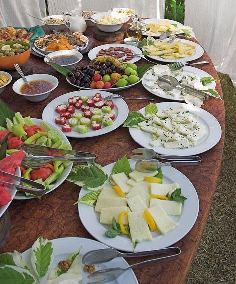 Breakfast table.  Turkey