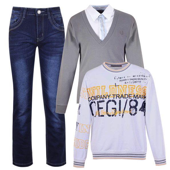 Casual для подростка - это всегда джинсы. Их можно сочетать как с непринужденной толстовкой с принтом, так и со строгим джемпером и сорочкой-классикой.