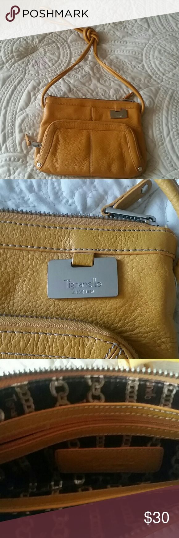 NWOT Tignanello purse Brand new. Received as a gift. Several compartments . Measures 6 1/2 deep and 9 wide Tignanello Bags