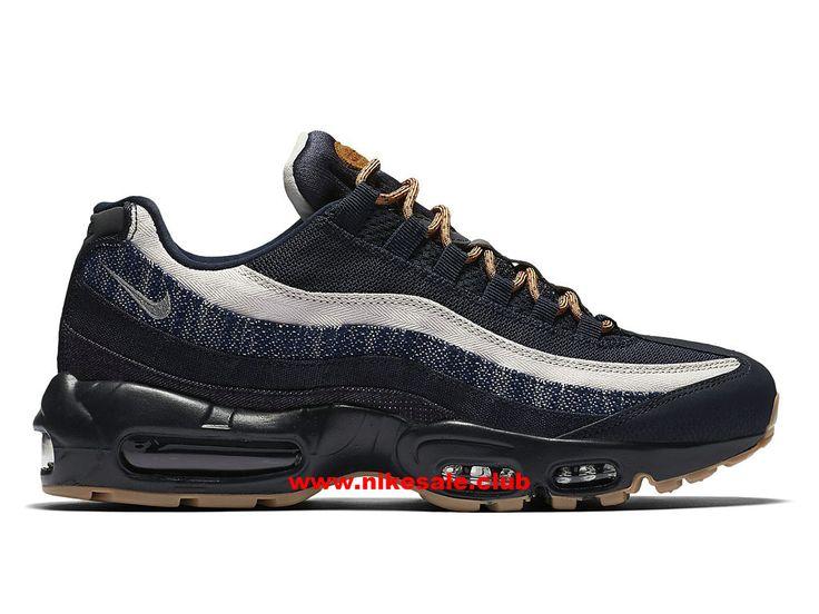Chaussures Nike Air Max 95 Premium Denim Prix Homme Pas Cher Noir/Blanc/Bleu