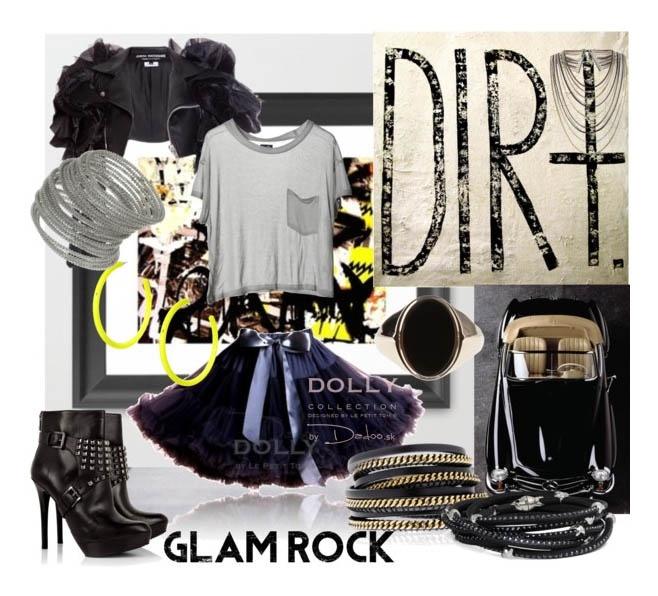 glam rock with Audrey Hepburn