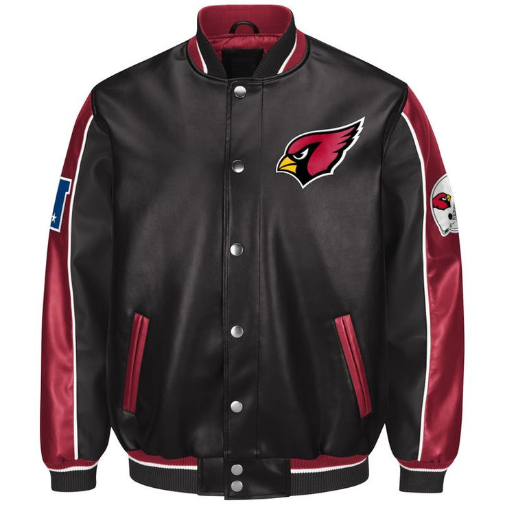 Arizona Cardinals G-III Sports by Carl Banks Defense Pleather Jacket - Black