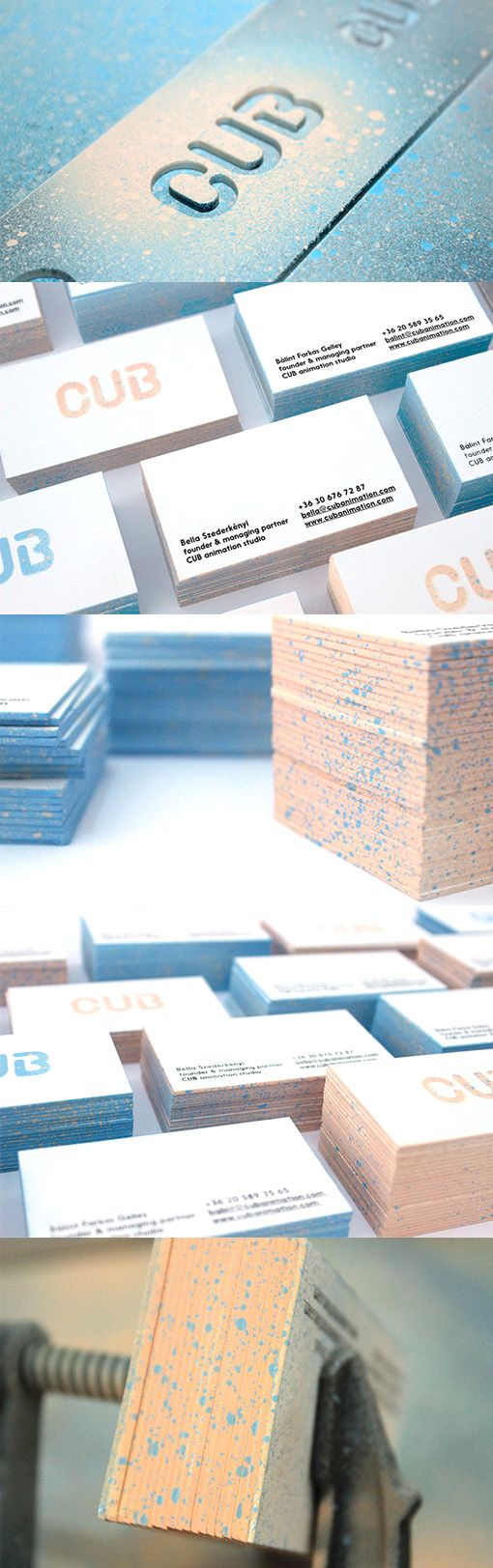 Creative DIY Spraypaint And Lasercut Perspex Edge Painted Business Card