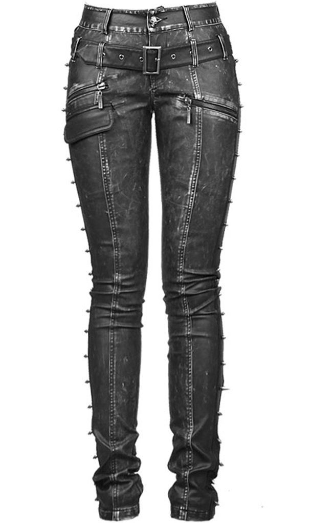 """Kuns-Leder Jeggings Hose von Punk Rave Gothic [retro] Harley V-Kei Gr.XS"" pants leggings bottoms jeans skinny"