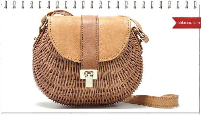 Маленькая плетеная сумочка из бумажной лозы