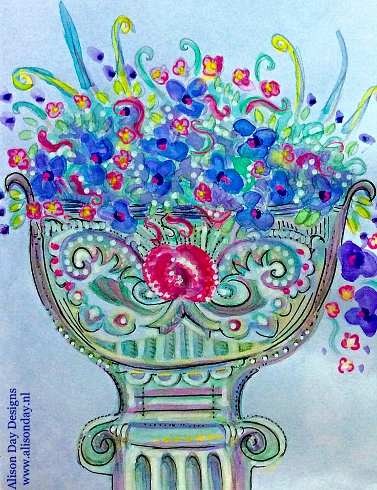 Garden Urn by Alison Day