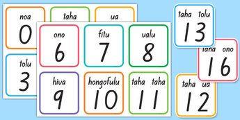 Tongan Numbers Flashcards
