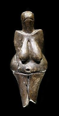 The Venus of Dolní Věstonice is a ceramic statuette dated to 29,000–25,000 BCE (Gravettian industry), which was found in a layer of ash at a Paleolithic site in the Moravian basin south of Brno, Czechoslovakia.  This figurine, together with a few others from nearby locations, is the oldest known ceramic in the world, predating the use of fired clay to make pottery. It has a height of 111 millimetres (4.4 in), and a width of 43 millimetres (1.7 in) at its widest point and is made of a clay bod...: Nudes Female, Female Figures, Dolní Věstonic, Ancient Artifact, 29 000 25 000 Bce, Dolni Veston, Moravian Basin, Ceramics Statuett, Venus Figurines