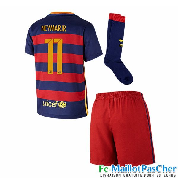 nouveau maillot football fc barcelone rouge et bleu enfant neymar jr 11 domicile 15 2016 2017. Black Bedroom Furniture Sets. Home Design Ideas