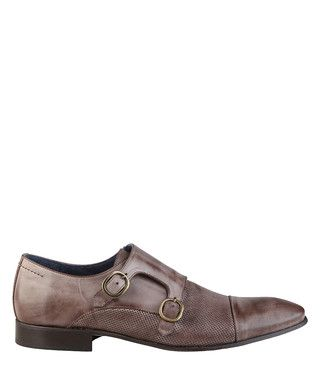 Baptiste brown leather monkstrap shoes Sale - Versace 1969 Sale