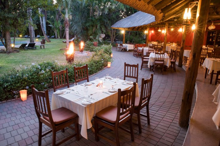 Outside dining experience at Calabash Grill Restaurant. #SefapaneMagic