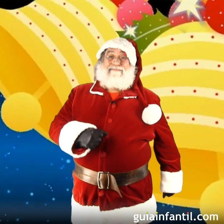 Papá Noel baila el villancico Campana sobre campana.