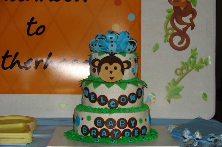 baby boy shower baby showers monkey baby forest friends poo baby cakes