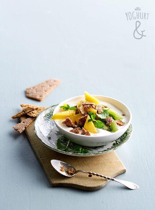 Kiwi & Mango & Rugsprø - Se flere spennende yoghurtvarianter på yoghurt.no - Et inspirasjonsmagasin for yoghurt.