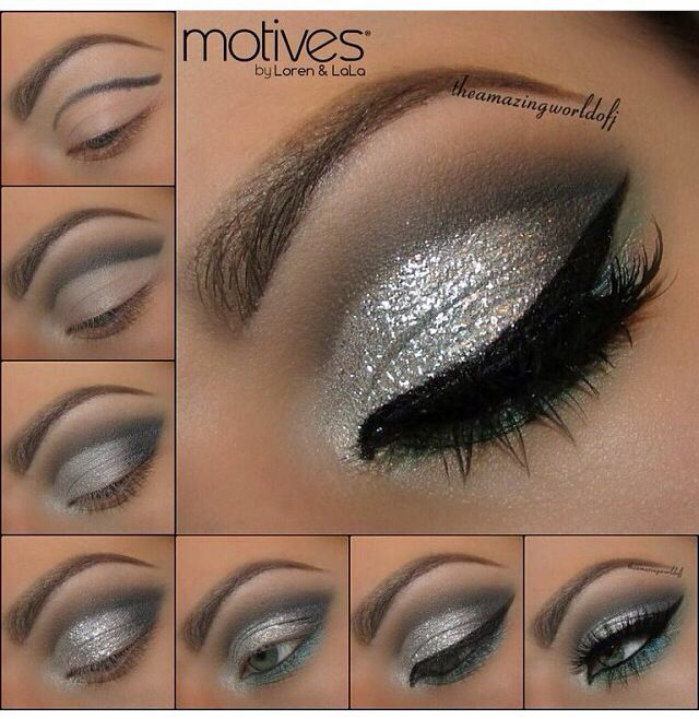 Mac platinum pigment would be perfect to add that sparkly silver