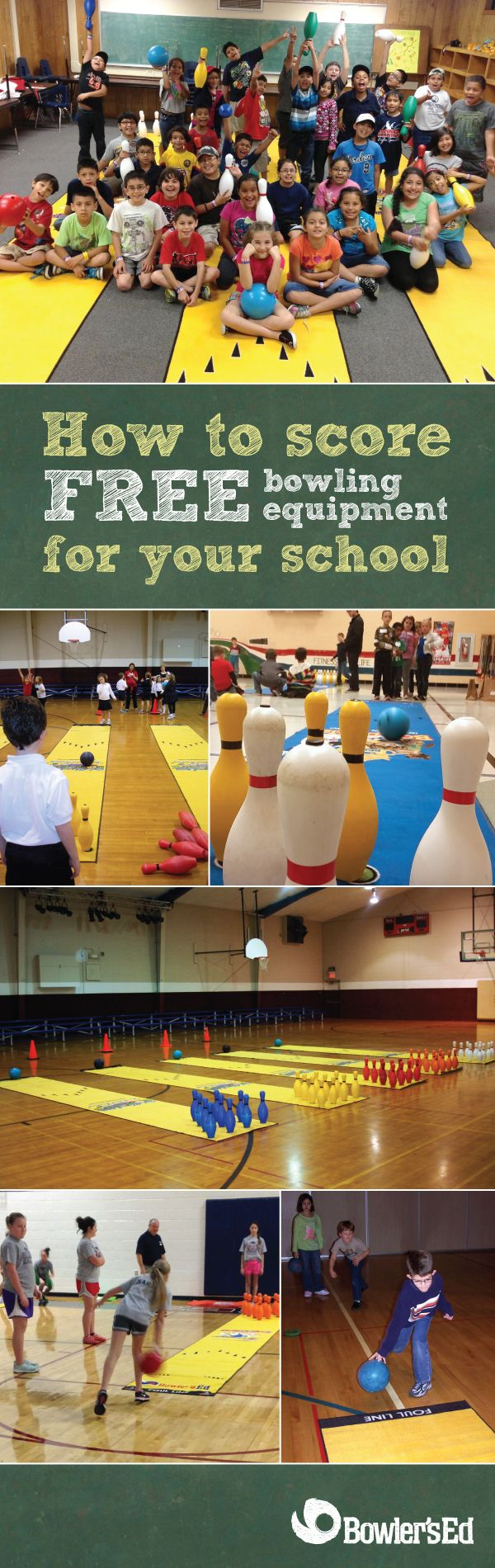 Score free bowling equipment for your school! Apply for a Bowler's Ed grant and your school could receive $2,200 worth of bowling equipment – great for a Family Fitness Night, field day, and before/after school programs. It's a short and sweet application, and 95% (yes, you read that right!) of all grant applications are approved.