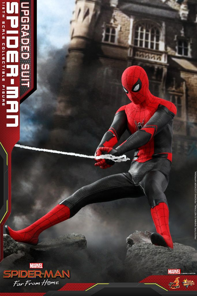 Hot Toys Mms542 蜘蛛人 離家日 蜘蛛人 升級版戰衣 Spider Man Upgraded Suit 1 6 比例人偶作品 Spiderman Marvel Spiderman Hot Toys