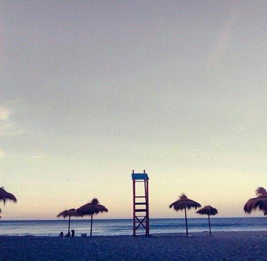 Atardecer playa!   Me encanta ♡   Playa De Arauco