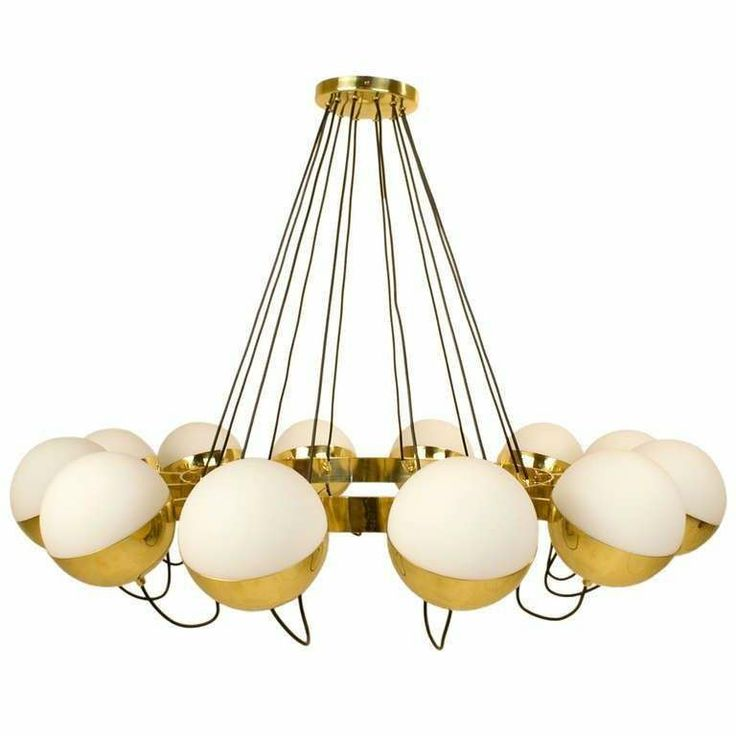 Twelve Globe Limited Edition Chandelier By Fedele Papagni For Gaspare Asaro