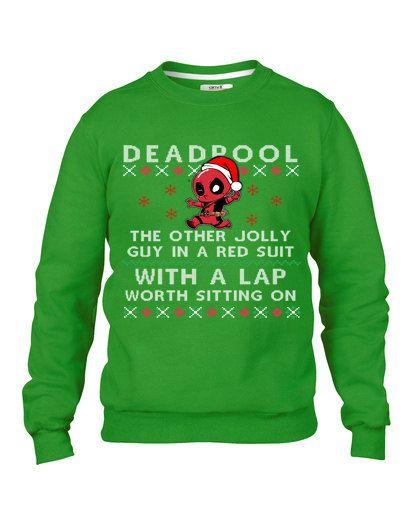 Fête de pull de Noël laid, Deadpool Sweat-shirt, pull moche concours Noël Sweatshirt