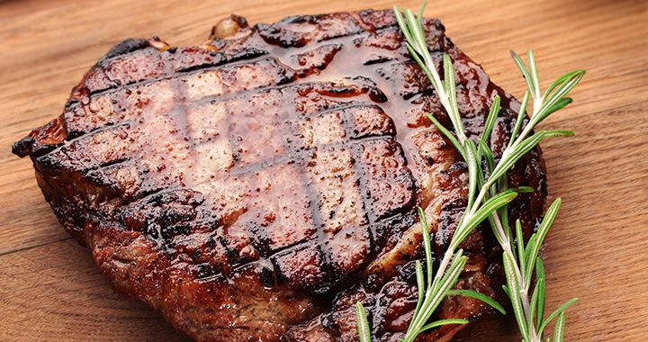 Follow this simple cape grim scotch fillet with spinach and red wine jus recipe for a delicious meal.