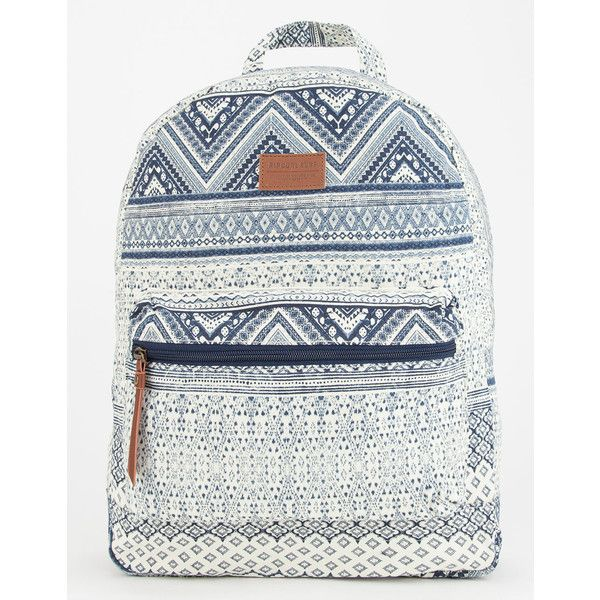Rip Curl Lost Dream Backpack ($50) ❤ liked on Polyvore featuring bags, backpacks, white bag, rip curl, rucksack bag, white backpack and rip curl backpacks