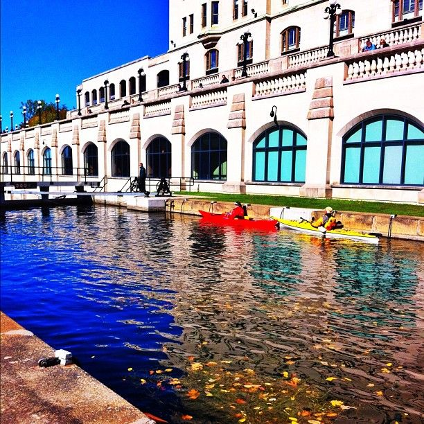 Kayaks on the Rideau Canal