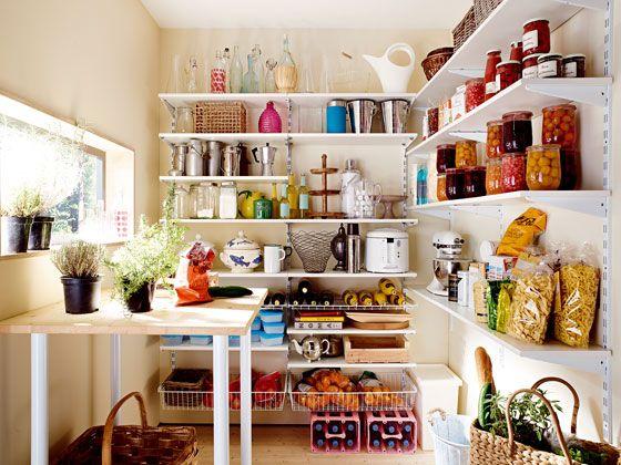 Wandregal für Ihre Speisekammer! Fachgerechte Lagerung von Lebensmitteln.